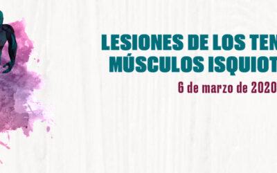 Jornada Isquios: Lesiones de los Tendones y Músculos Isquiotibiales
