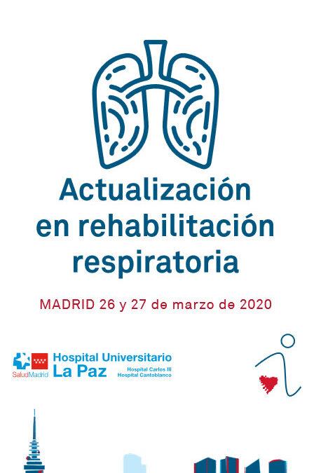 19º Curso Teórico Práctico SORECAR. Actualización en rehabilitación respiratoria.