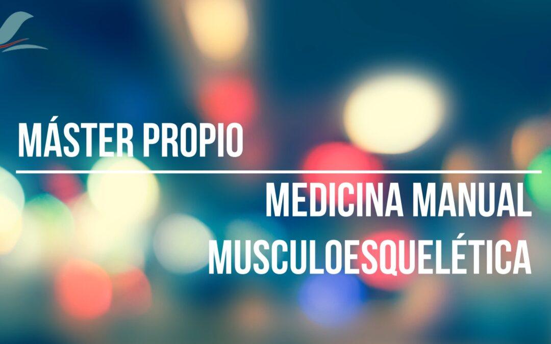 MÁSTER PROPIO EN MEDICINA MANUAL MUSCULOESQUELÉTICA de la Universitat de València