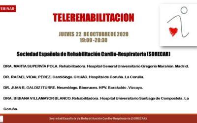 Webinar sobre Telerrehabilitación de SORECAR