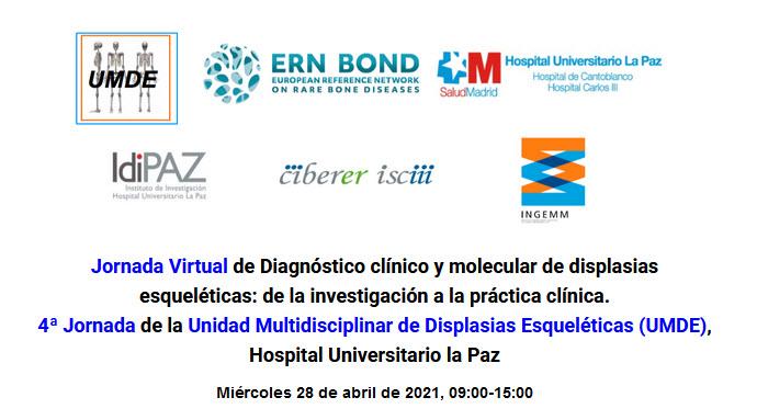Jornada Virtual de Diagnóstico clínico y molecular de displasias esqueléticas: de la investigación a la práctica clínica.
