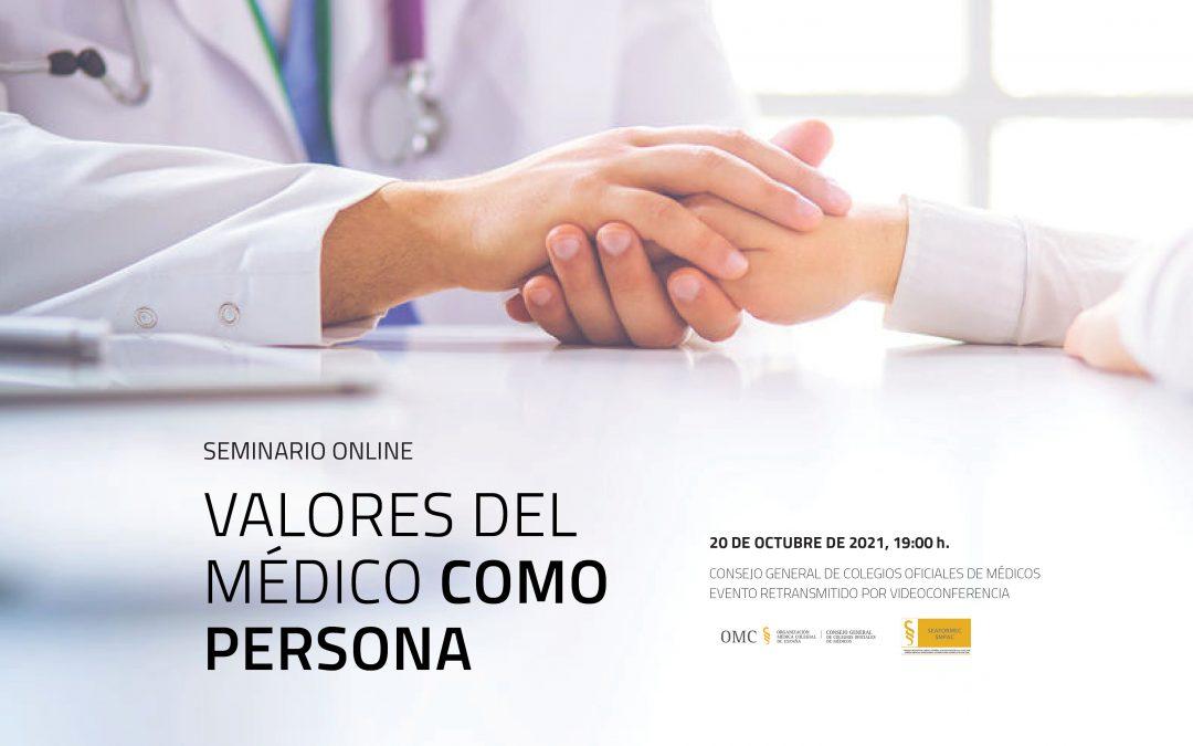"""Seminario online """"Valores del médico como persona"""""""